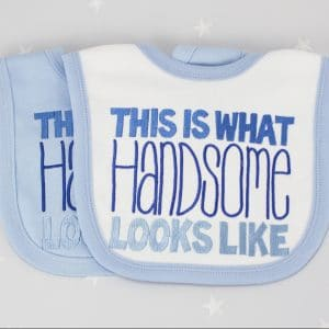 Personalised Baby Bib Set