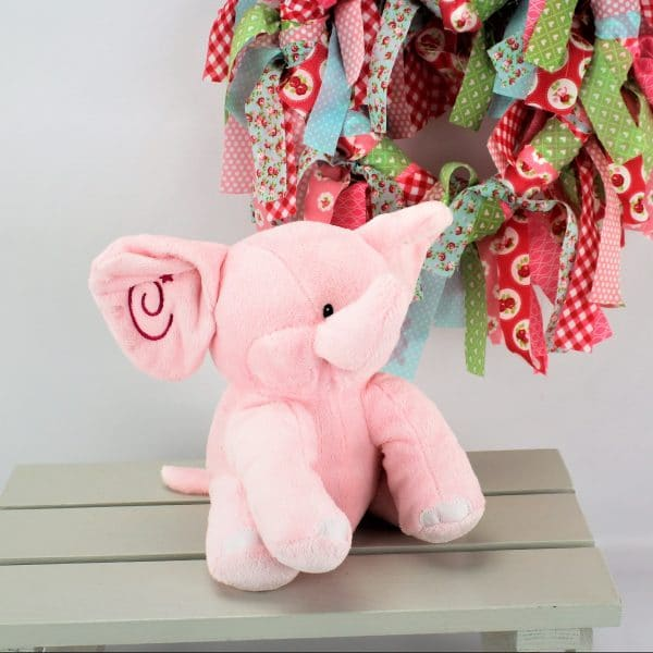 Elephant cuddly toy - baby girl gift