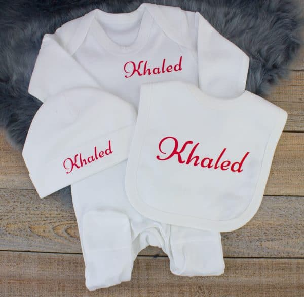 personalised baby clothes set