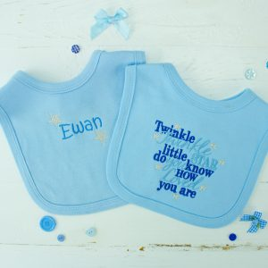 "Personalised Baby Bib Set - ""Twinkle Twinkle Little Star"""
