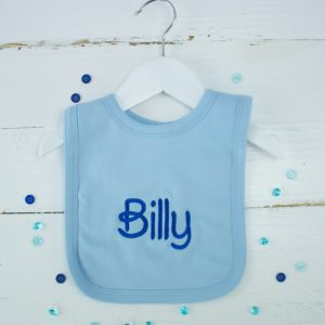 Personalised Blue Baby Boy Bib