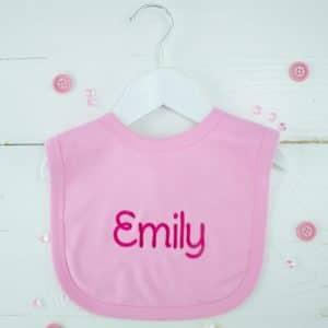 personalised baby girl bib