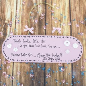 "Personalised Wooden Plaque - ""Twinkle Twinkle Little Star"""
