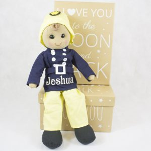 personalised rag doll - baby boy gift