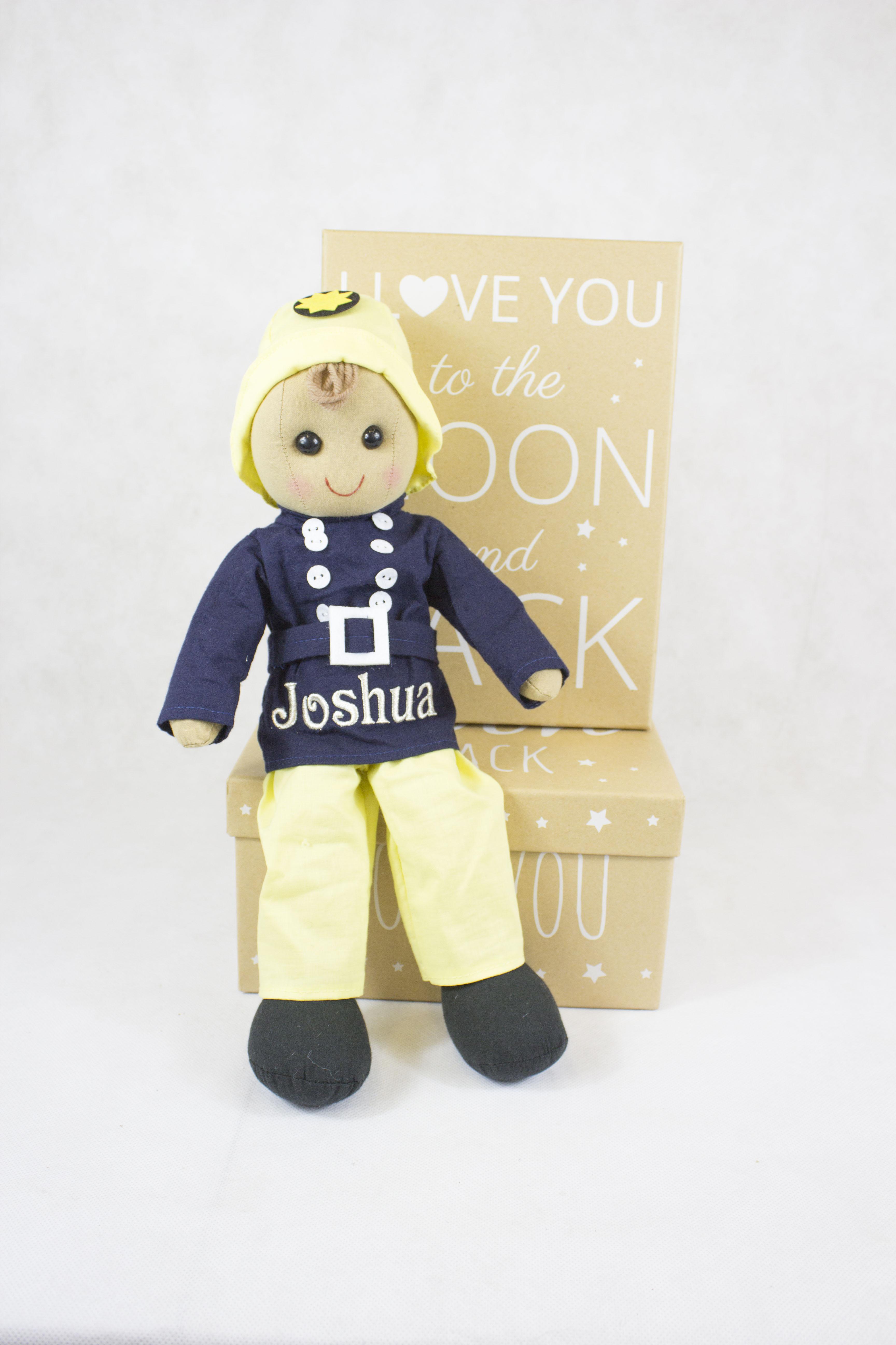 personalised rag doll - baby boy gift