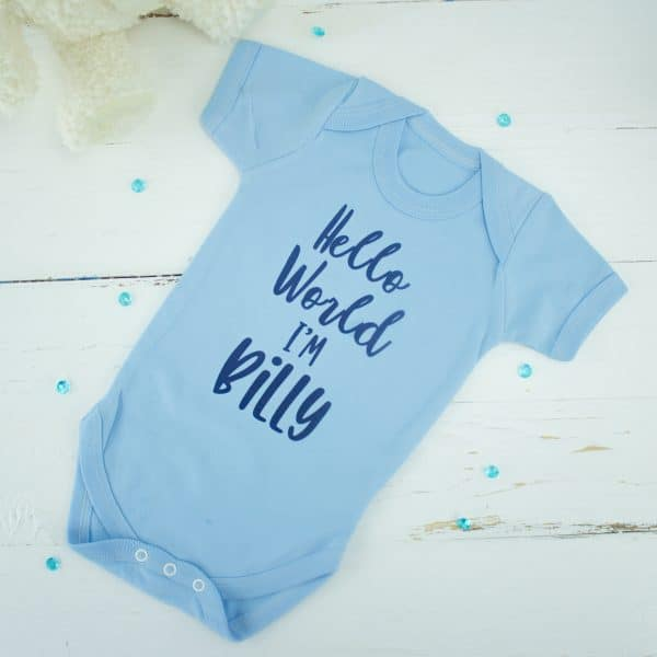 personalised baby boy bodysuit