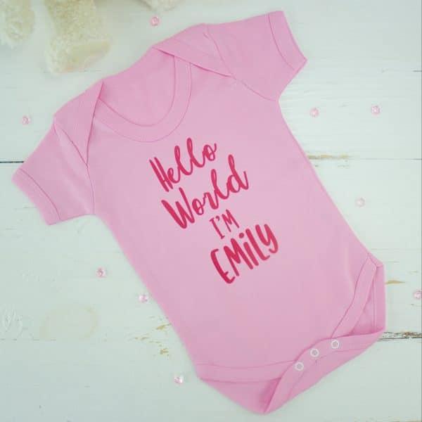 personalised baby girl bodysuit