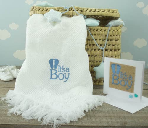 personalised baby shawl - baby boy baby shower gift