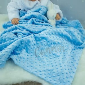 """Personalised Blue Bobble Blanket"""