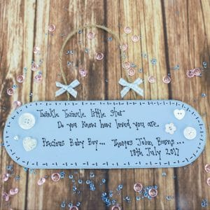 "Personalised Blue ""Twinkle Twinkle"" Plaque"