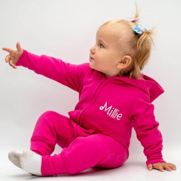 personalsied pink baby onesie