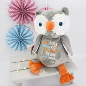 'Personalised 'Hooty Lou' Owl Cubbie'