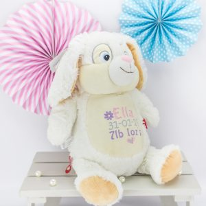 Personalised Bunny Rabbit Soft Toy - White Cubbie