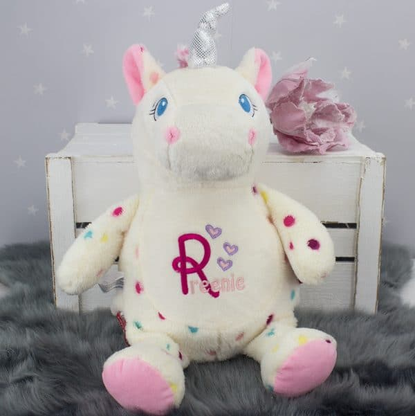 personalised unicorn teddy
