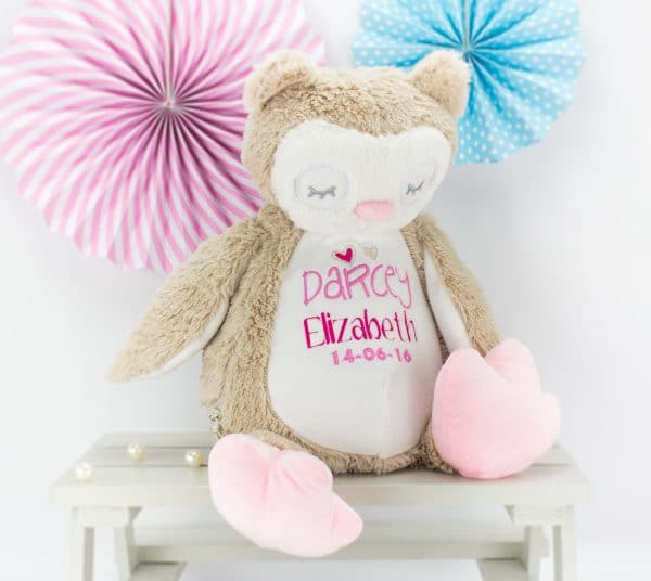 Personalised Owl Soft toy - brown