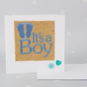 Personalised newborn baby card - its a boy