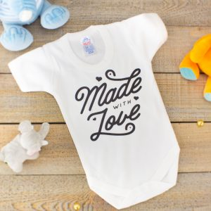 """Made With Love baby bodysuit"
