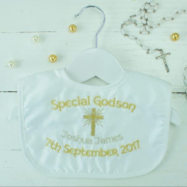 Personalised Christening Bib - Godchild Present