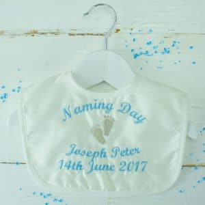 Personalised Naming Day Bib - Naming Day Present