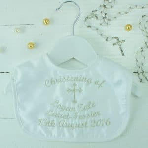 Personalised Baby Christening Bib