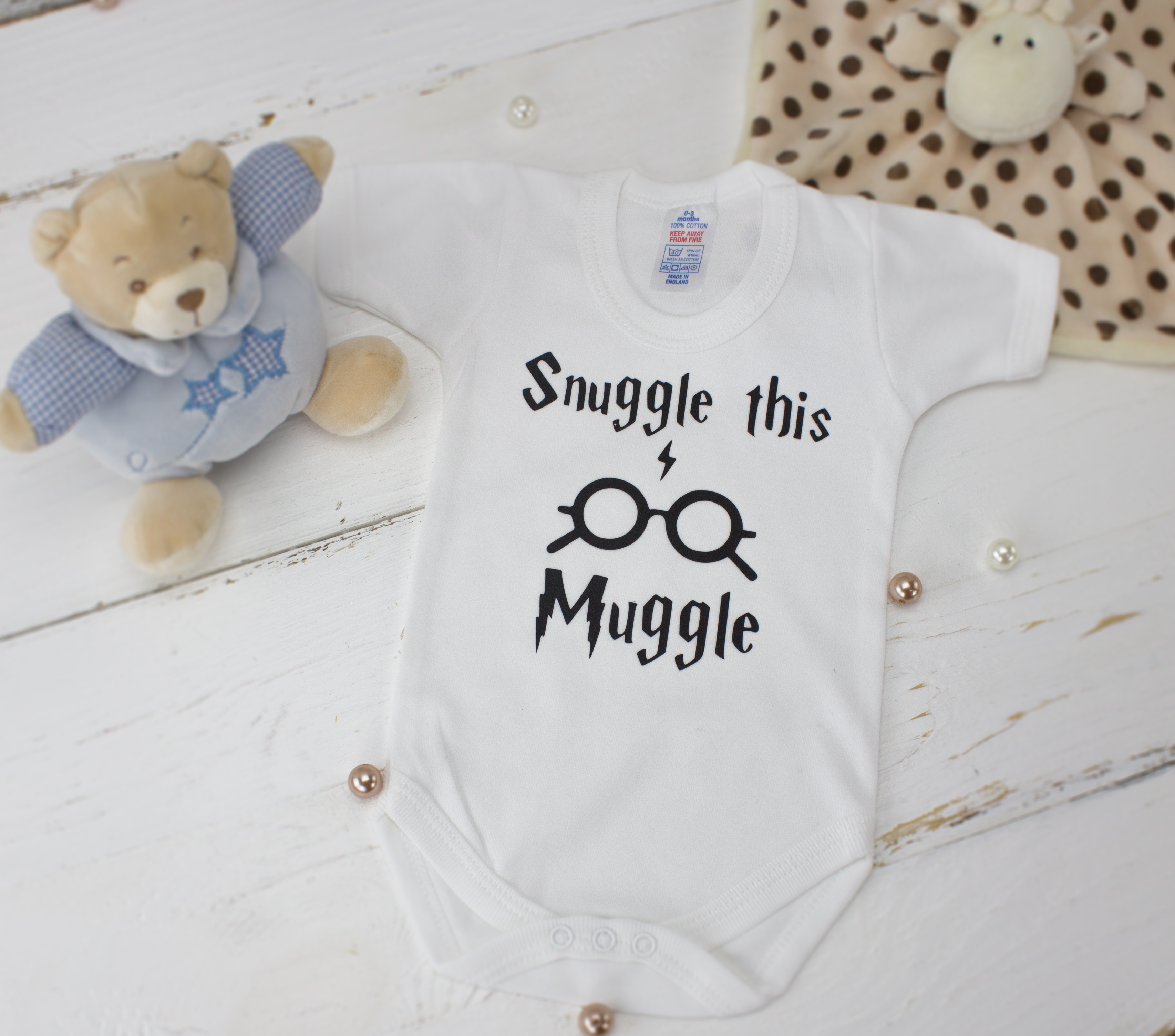 harry potter baby clothes - snuggle this muggle
