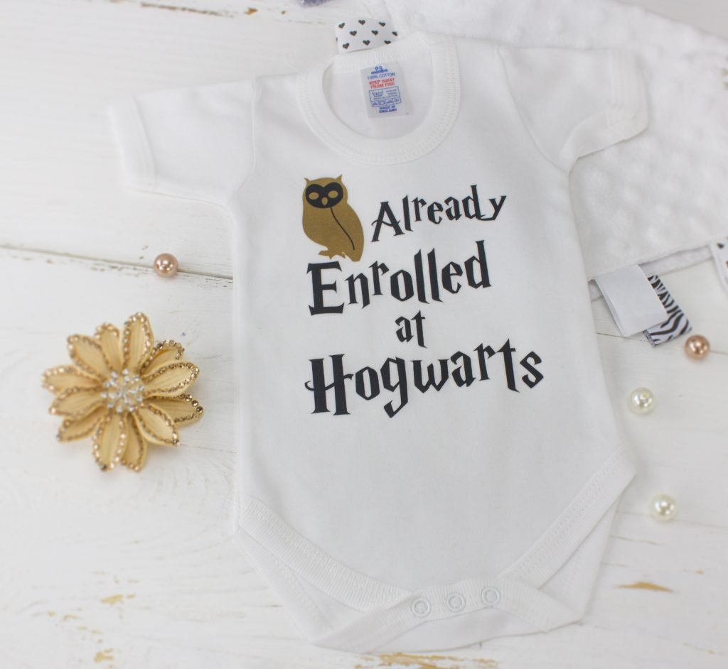 Harry Potter Quot Already Enrolled At Hogwarts Quot Bodysuit