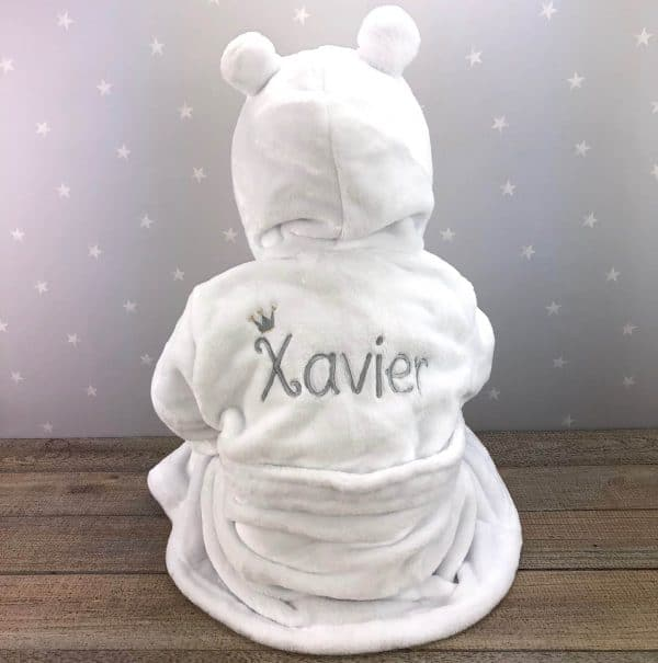 personalised baby house coat