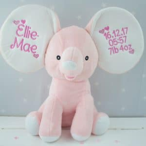 """Personalised Pink Dumble Elephant"""