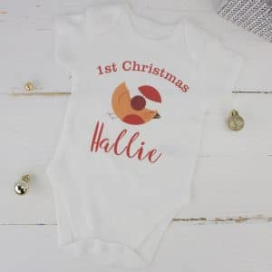 """Personalised Baby Christmas Bodysuit - 1st Christmas"""