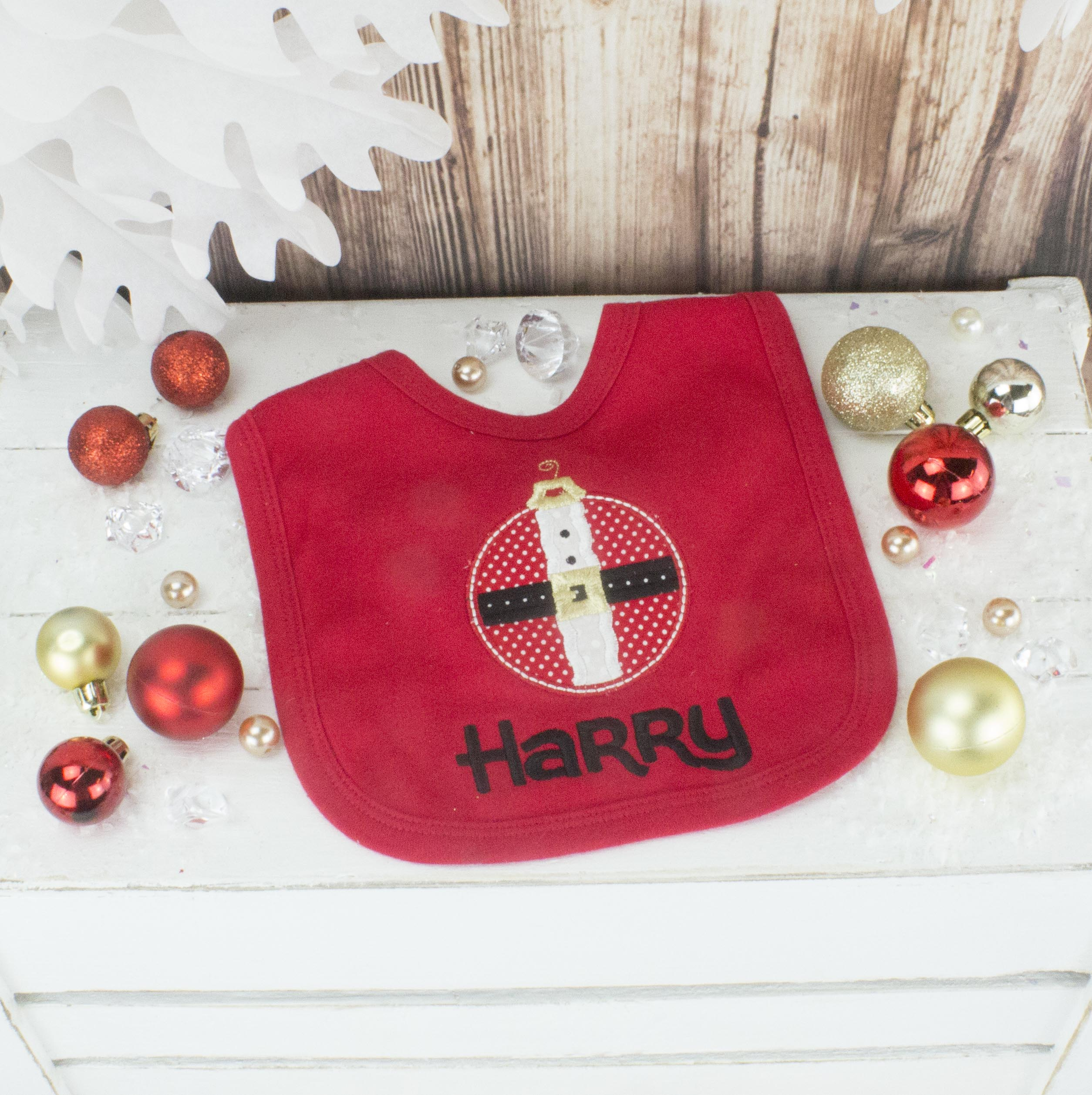 Personalised Christmas Bib | Heavensent Baby Gifts
