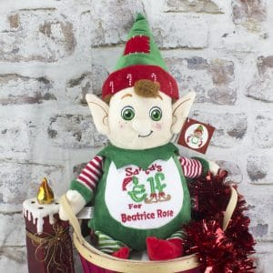 Personalised Christmas Elf Cuddly Toy