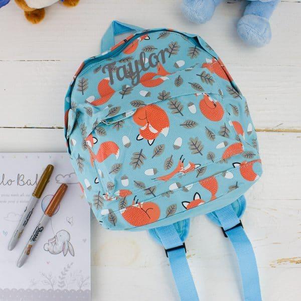Personalised Baby Boy Backpack - Fox