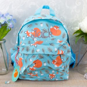 'Personalised Fox Print Backpack'