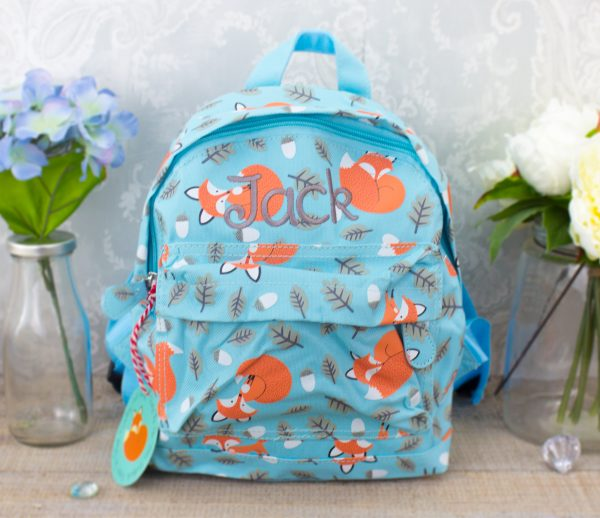 Personalised kids backpack - fox