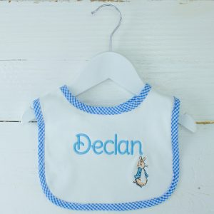 Personalised Baby Bib - Peter Rabbit