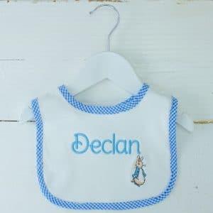 Personalised Baby Boy Bib - Peter Rabbit Gift