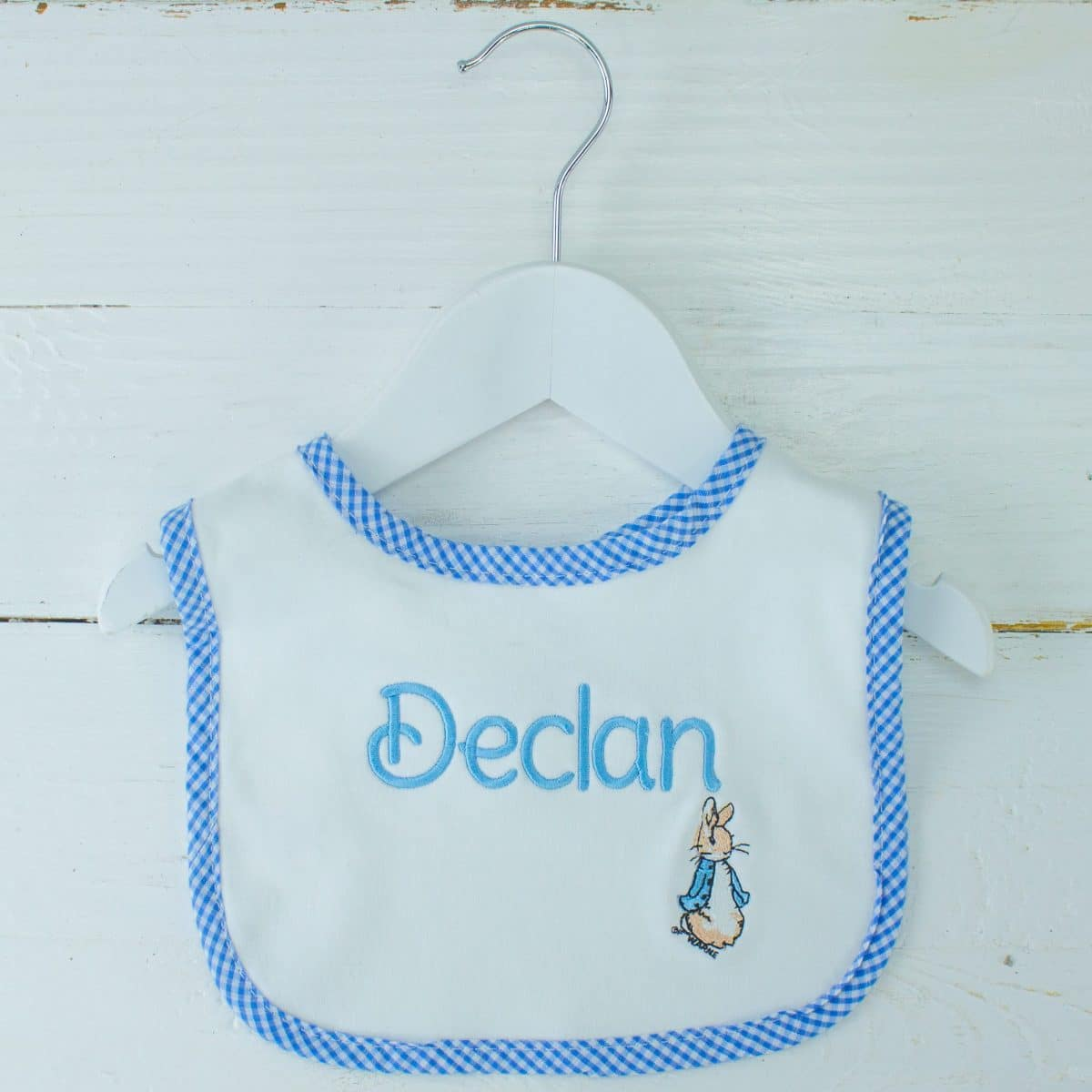 Blue Boys Peter The Rabbit Personalised 100/% Soft Cotton Hooded Towel.