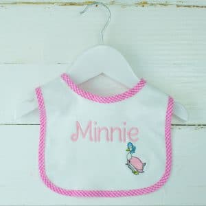 Personalised Baby Bib - Jemima Puddle Duck