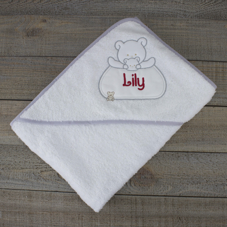 Personalised white hooded towel heavensent baby gifts personalised white hooded towel negle Gallery