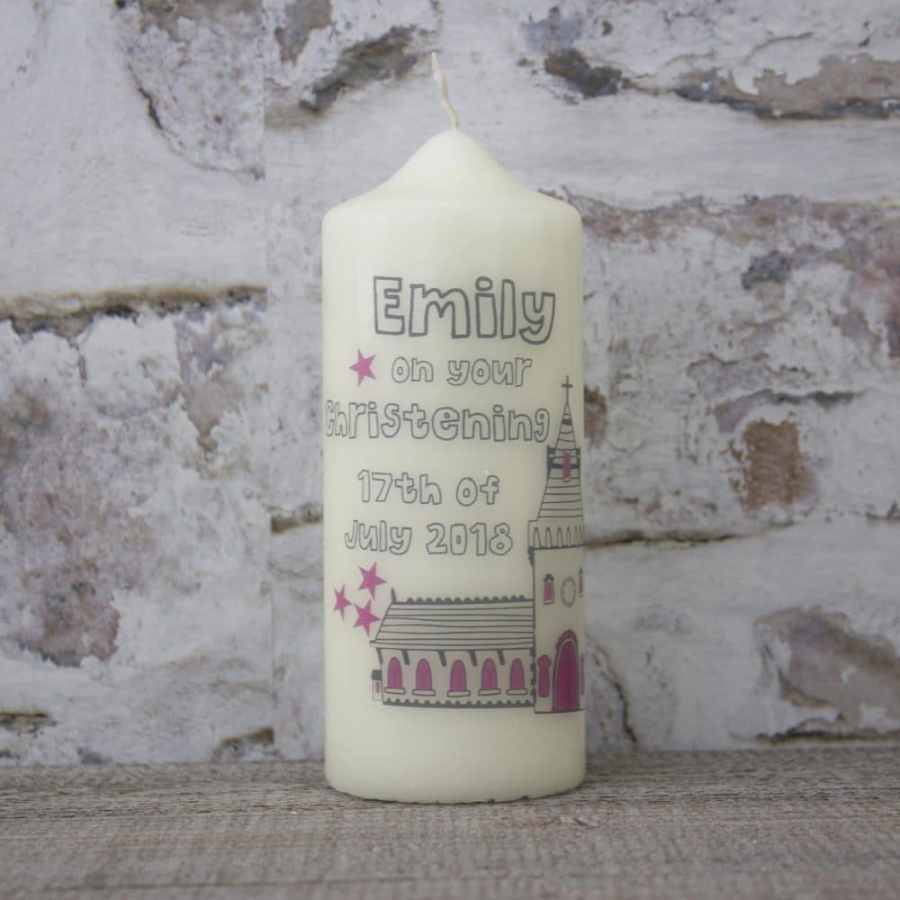Personalised Christening Gift - Personalised Christening Candle
