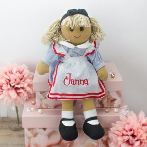 'Personalised 'Alice in Wonderland' Rag Doll'