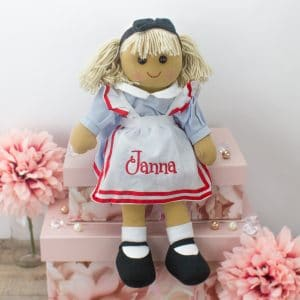 Personalised Rag Doll Alice in Wonderland