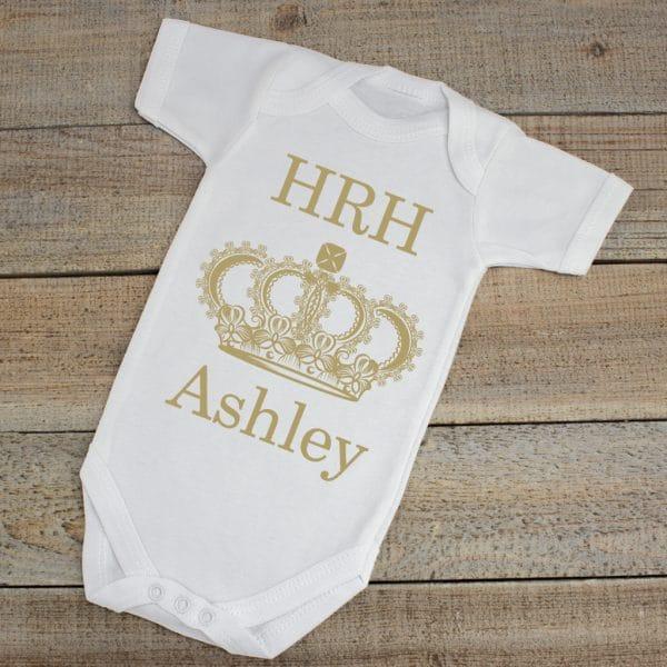 Personalised Royal Baby Bodysuit