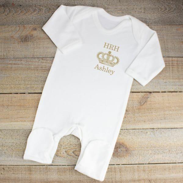 Personalised Royal Baby Sleepsuit
