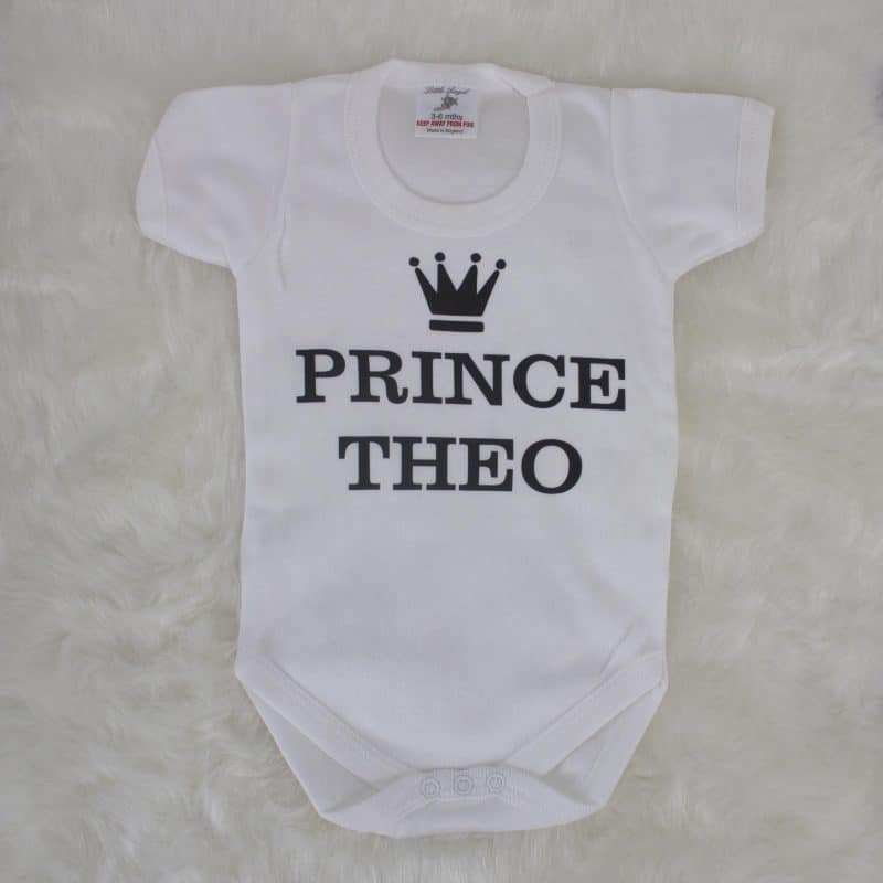 personalised baby clothes - royal wedding gift