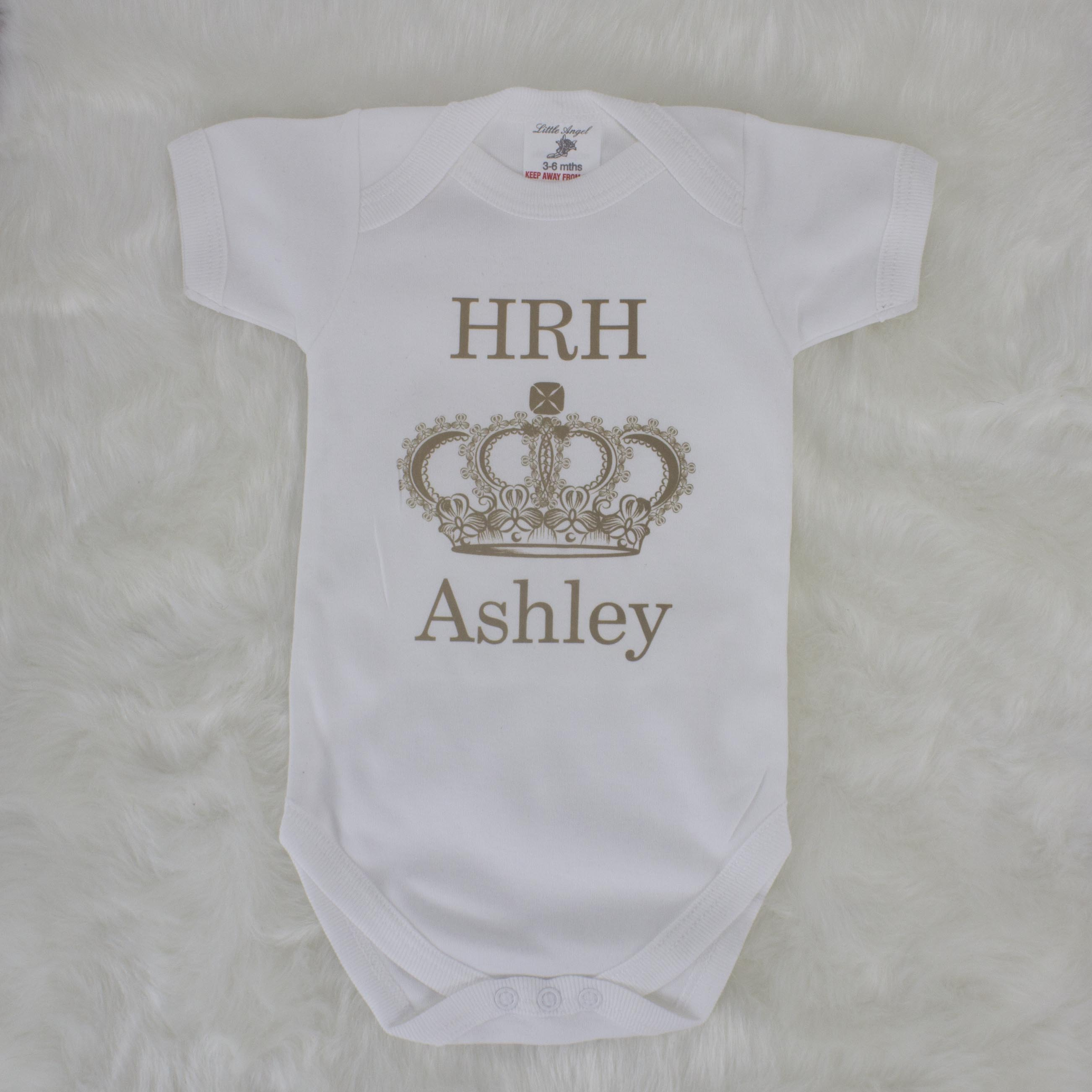 Personalised HRH Baby Bodysuit