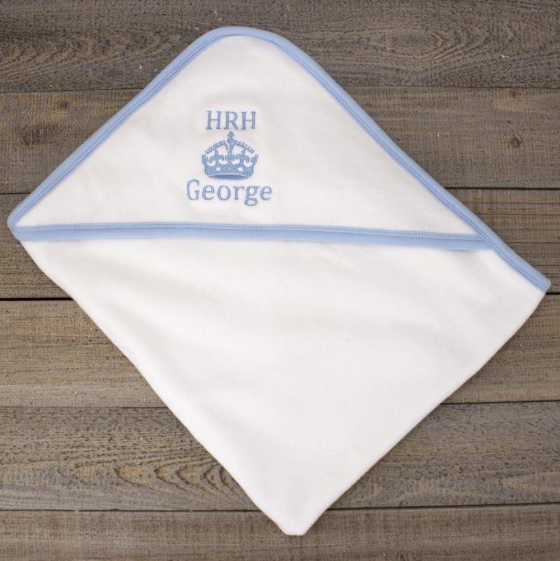 'Personalised HRH Boys Hooded Towel'