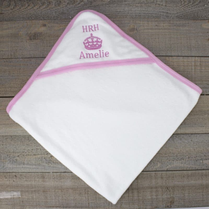 Personalised baby towel - girls