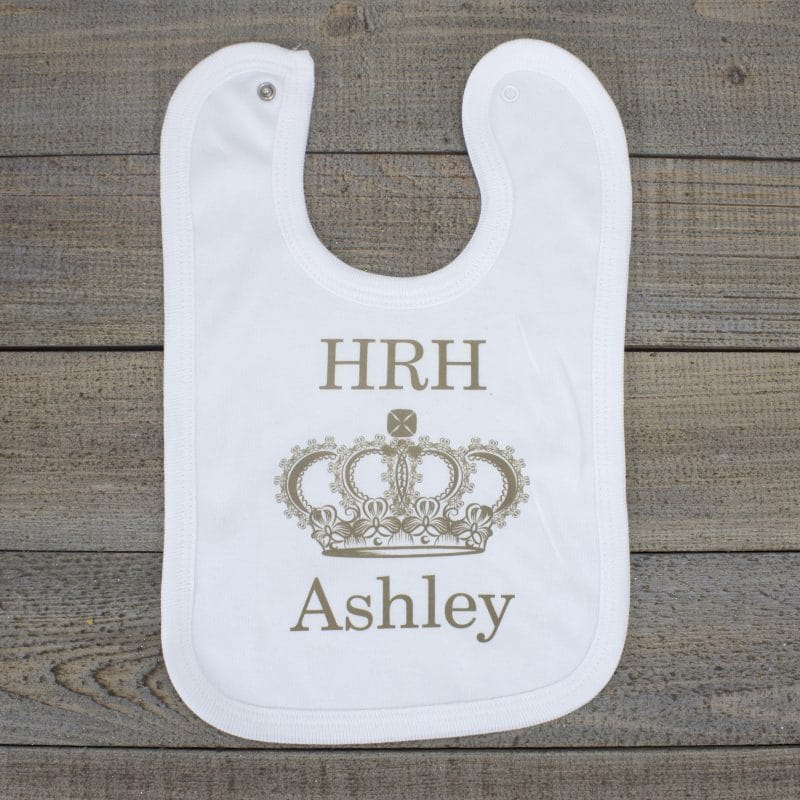 personalised baby bib - royal baby gift