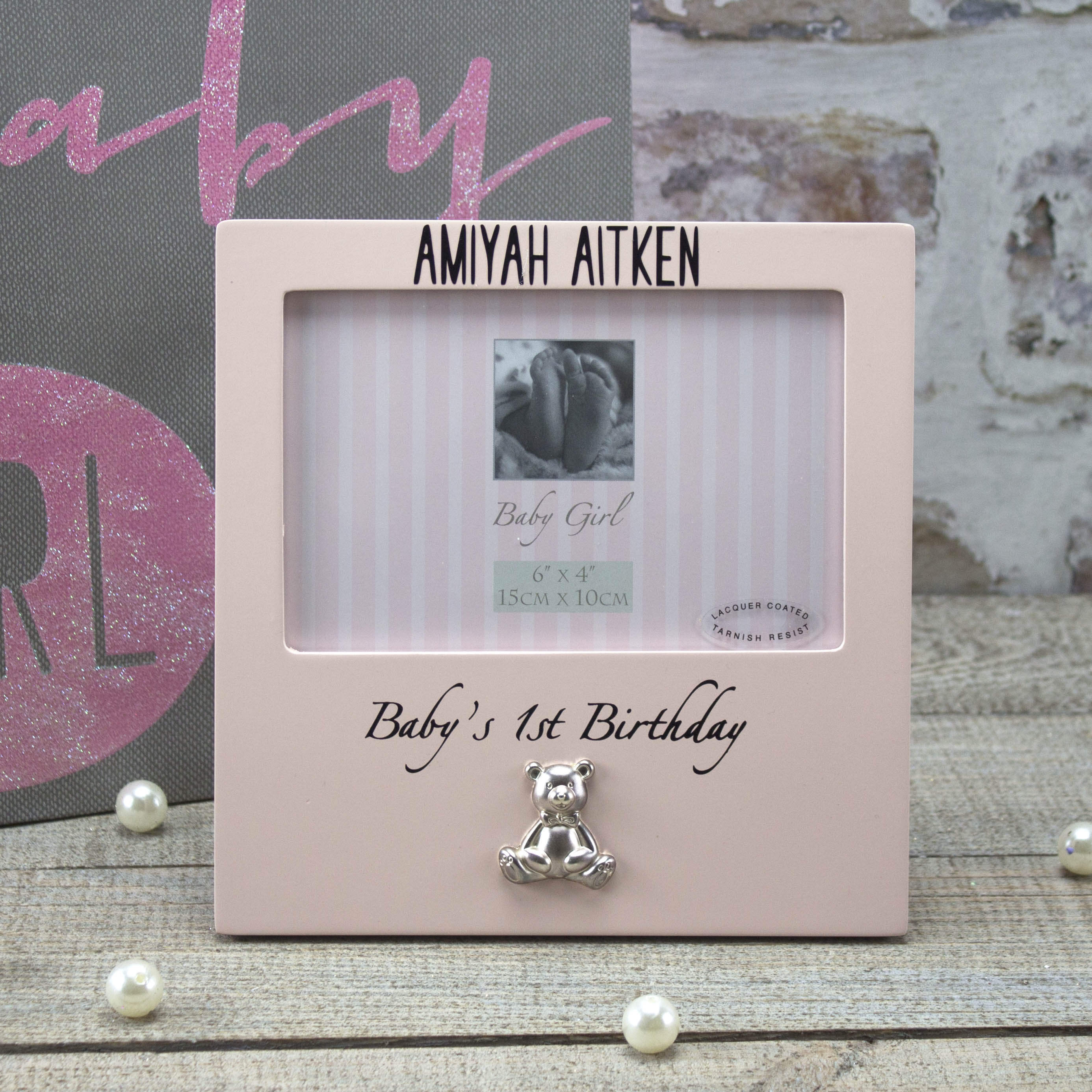 Product Description Personalised Baby Boy Photo Frame 1st Birthday